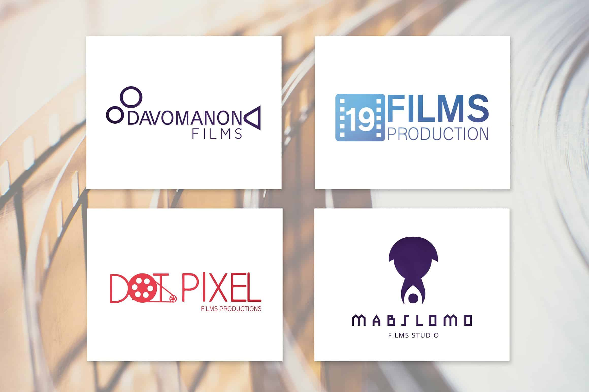 Cameramovie Film Production Logos Graphicx Pack
